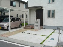 栃木県宇都宮市外構・エクステリア工事施工写真